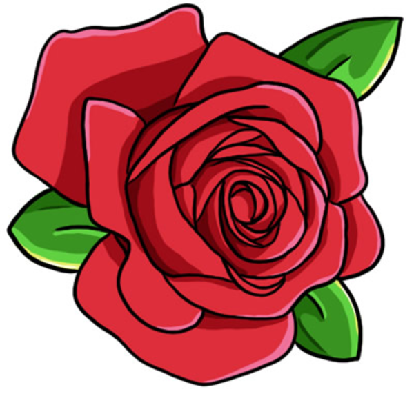 Rose head . Clipart roses cartoon