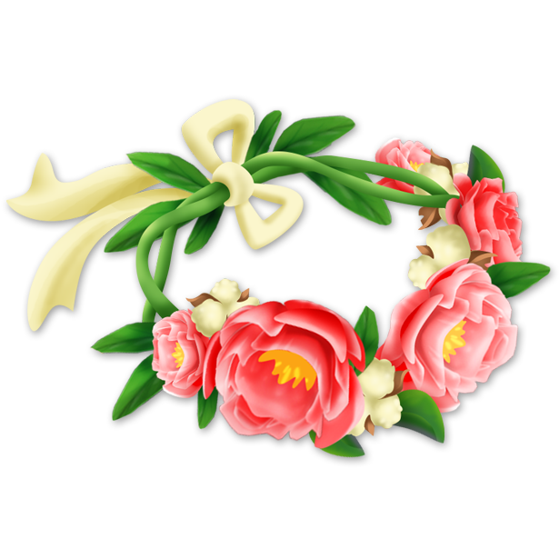 Flower crown hay day. Clipart roses headband