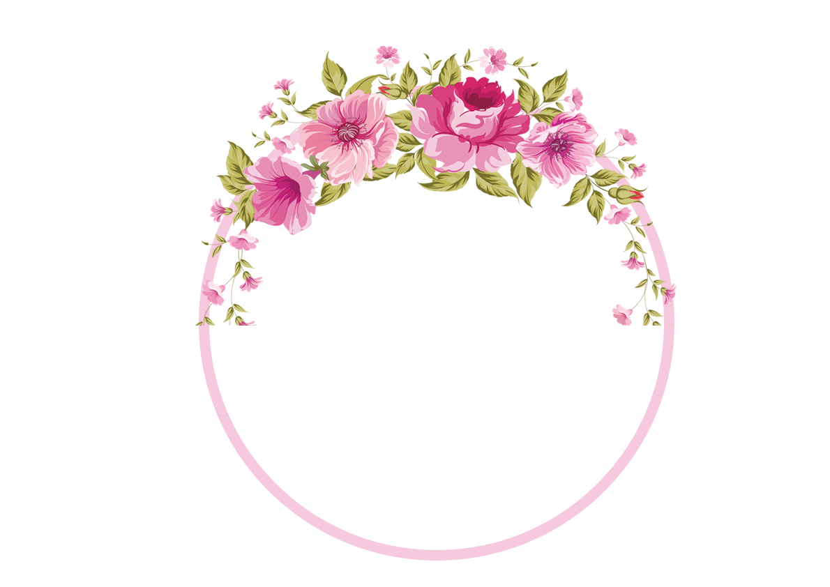 Border flowers rose clip. Floral clipart flower headband