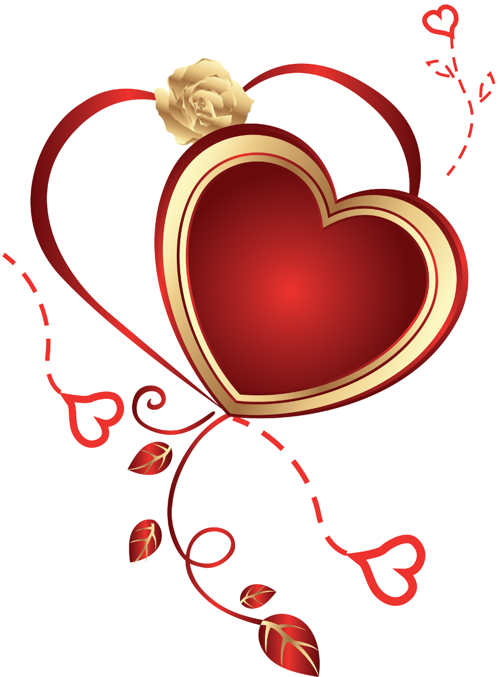 With png . Clipart rose heart