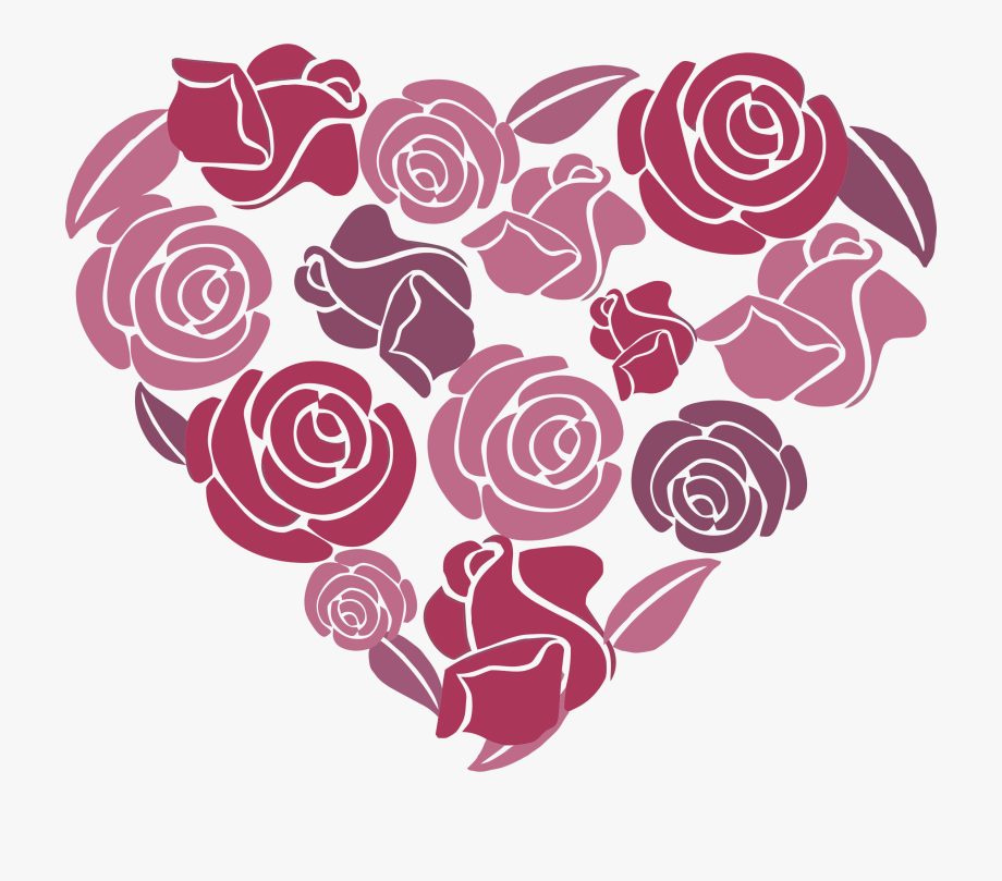 Roses svg library download. Clipart rose heart