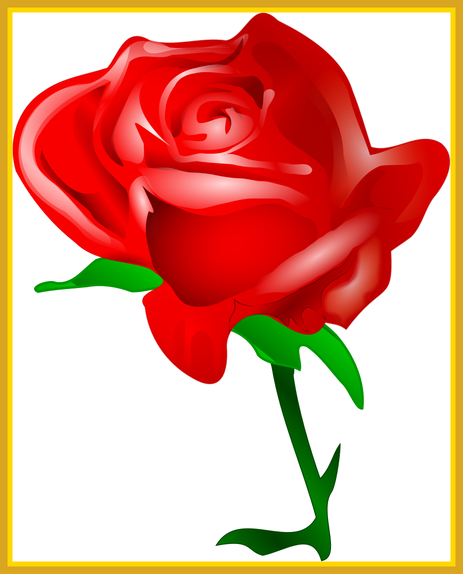 Awesome bouquet of frame. Rose clipart kid
