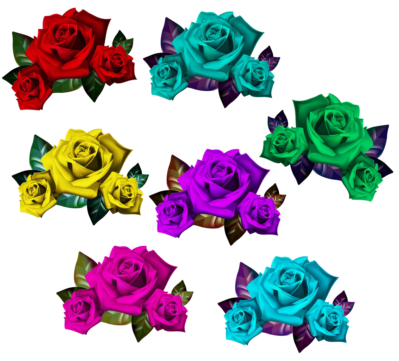 Rose clipart kid. Colorful romeo juliet bouquet