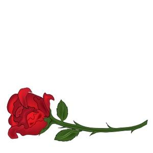 Roses long stem clipartix. Rose clipart kid