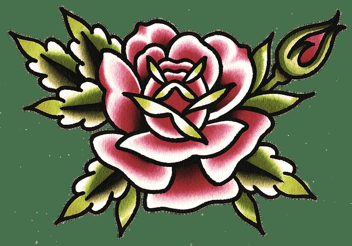 Flower tattoo transparent png. Clipart rose knife
