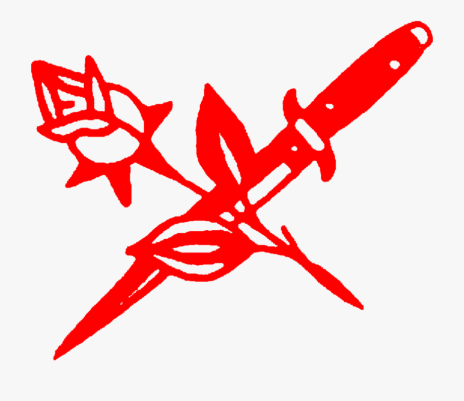 Clipart rose knife. Red aesthetic tumblr png