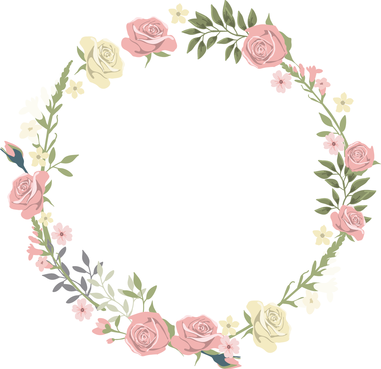Pink flowers transprent png. Clipart rose lace