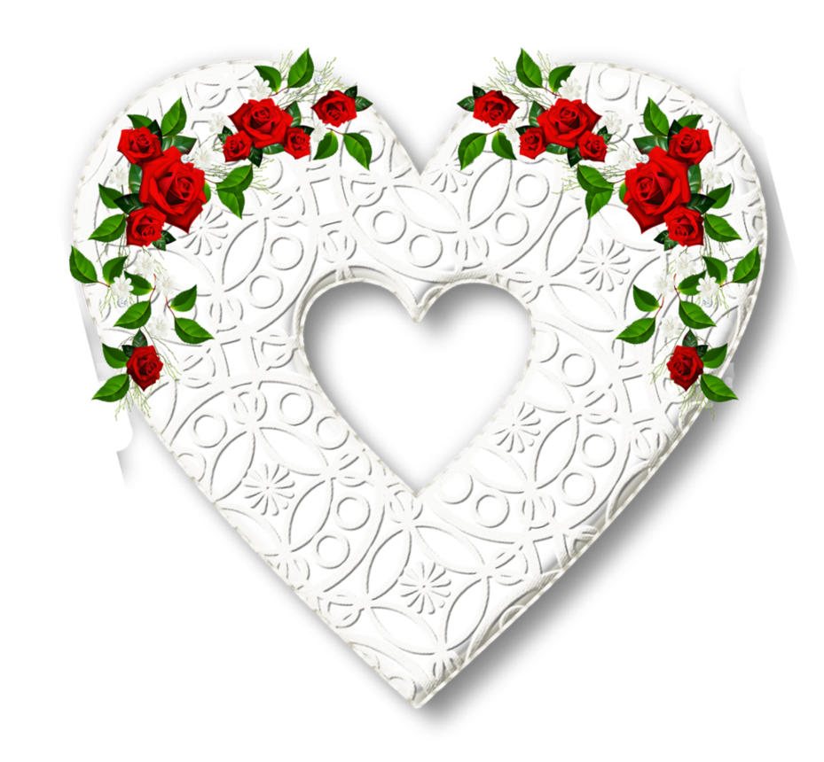 Clipart rose lace. Karenphoto heart white by