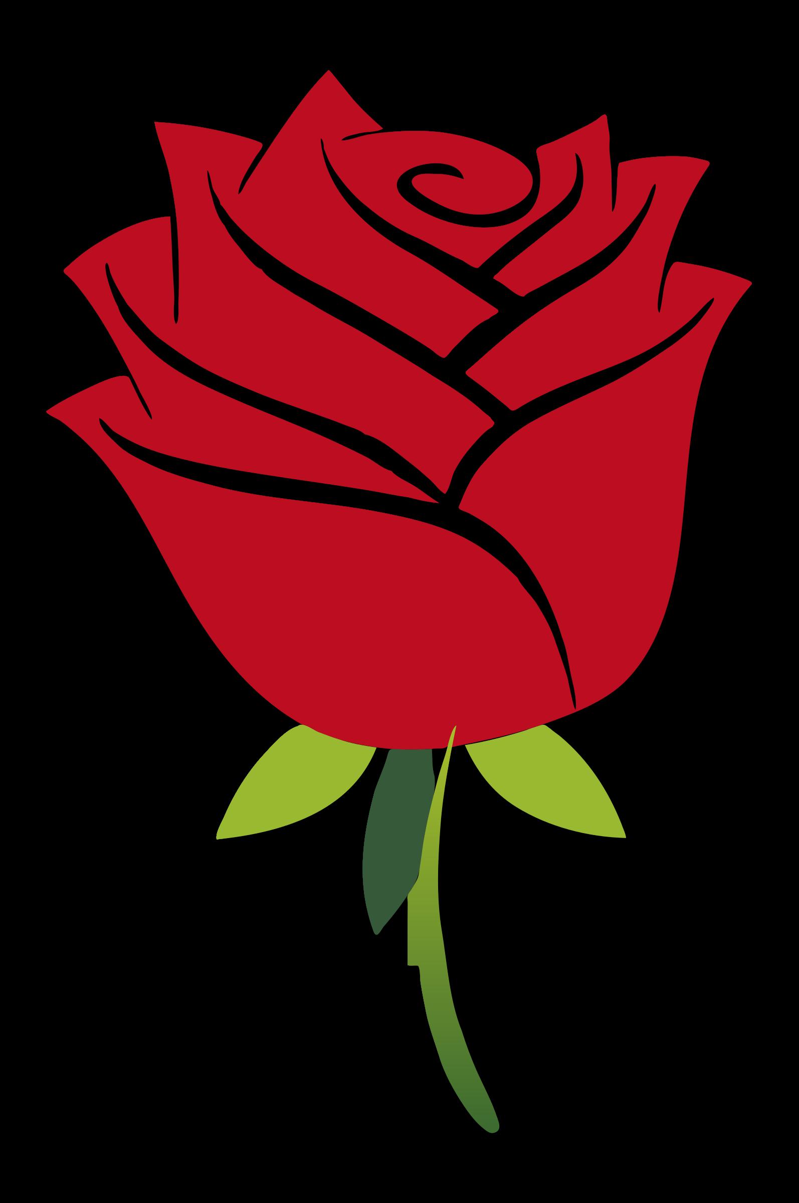 Clipart rose logo. Stylized big image png