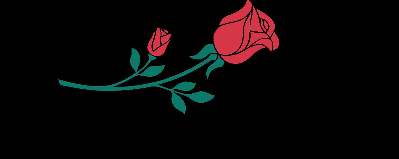 Clipart rose logo. Pasadena half marathon k