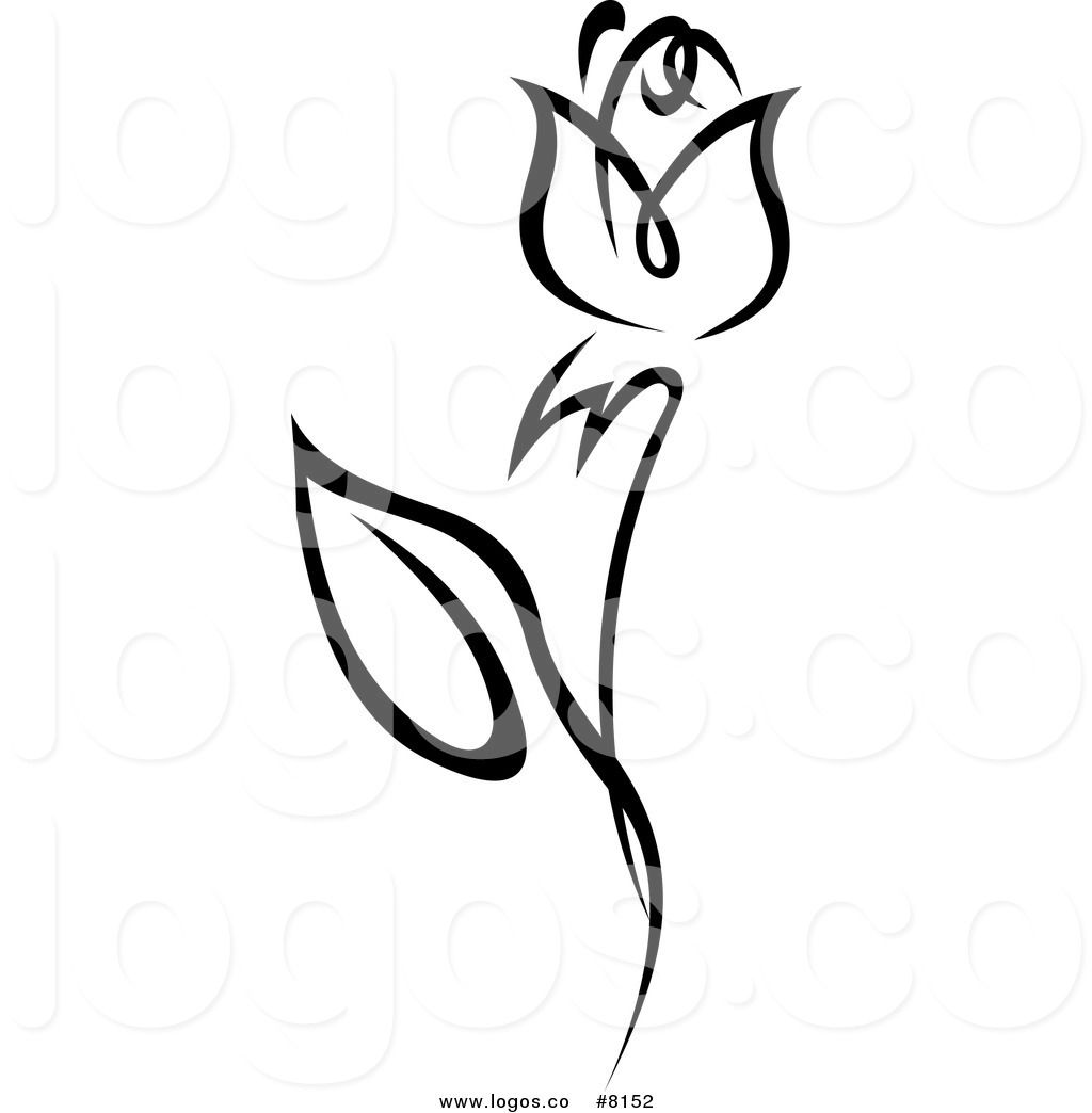 Clipart roses logo. Royalty free rose stock