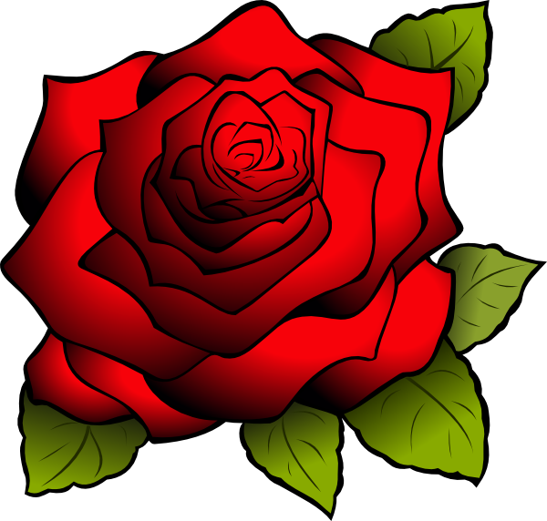 Red clip art at. Clipart rose logo