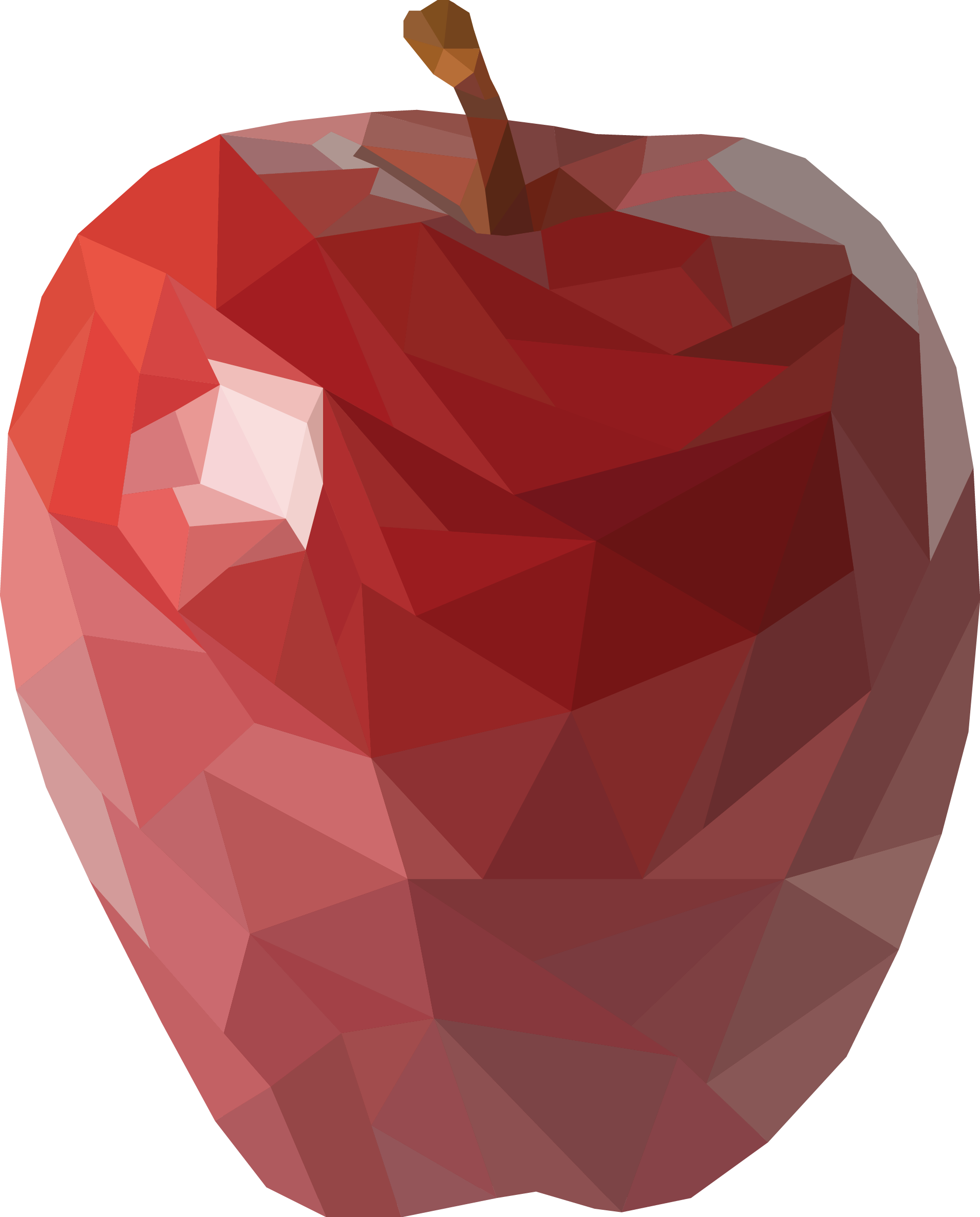 Apple polygon art by. Clipart rose maroon