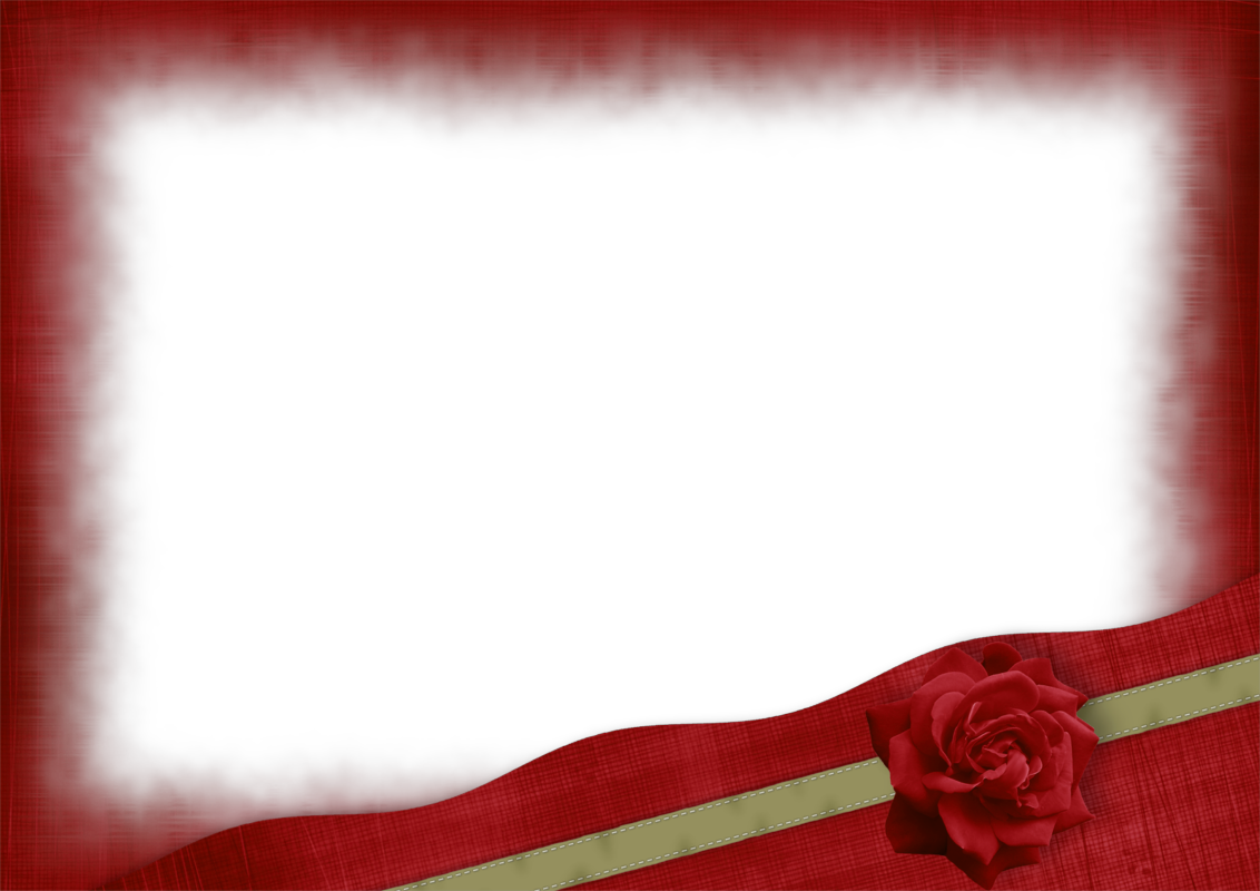 Beautiful red transparent frame. Clipart rose maroon