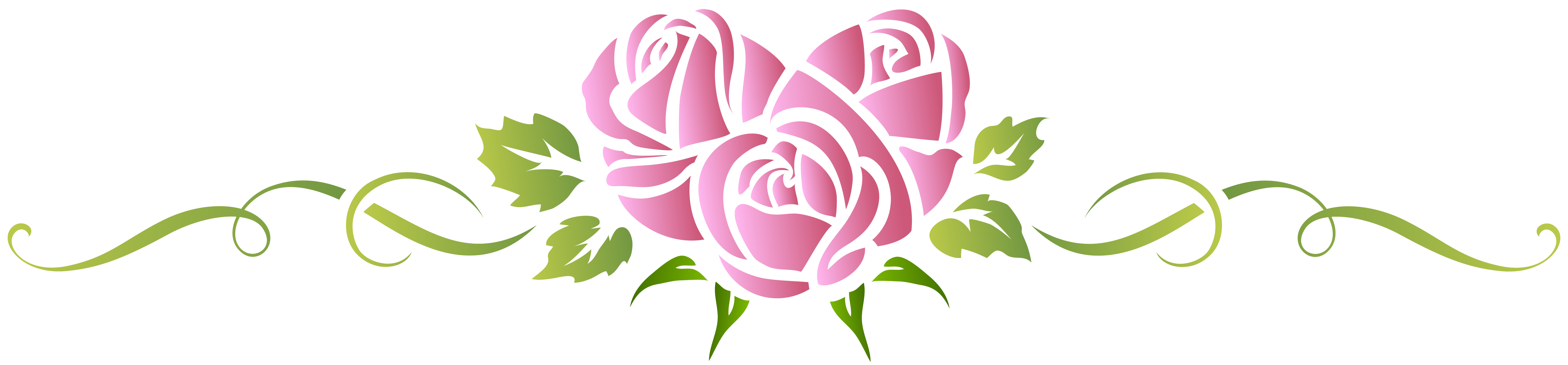 Heart pink floral ornament. Clipart rose minimalist