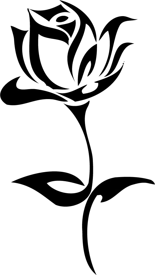 Tattoo png image flower. Clipart rose minimalist