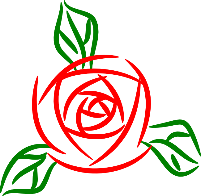 Flower clip art panda. Clipart rose modern