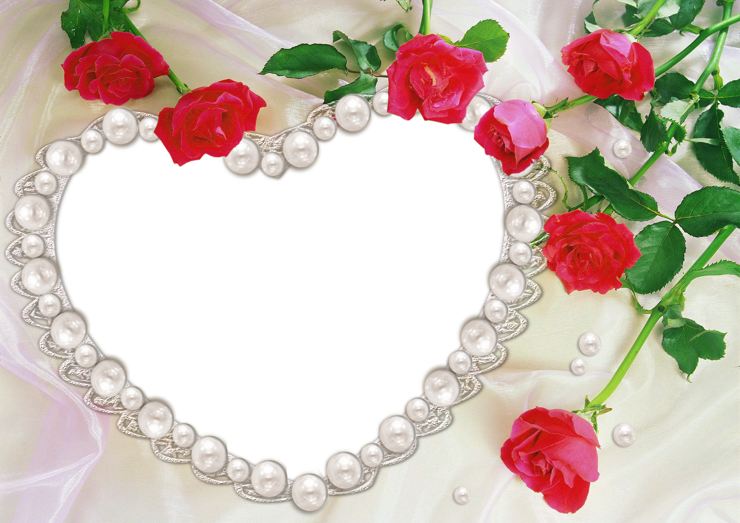 Clipart roses pearl. Heart and transparent frame
