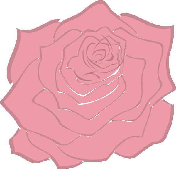 Clipart rose pink rose. Pale clip art at