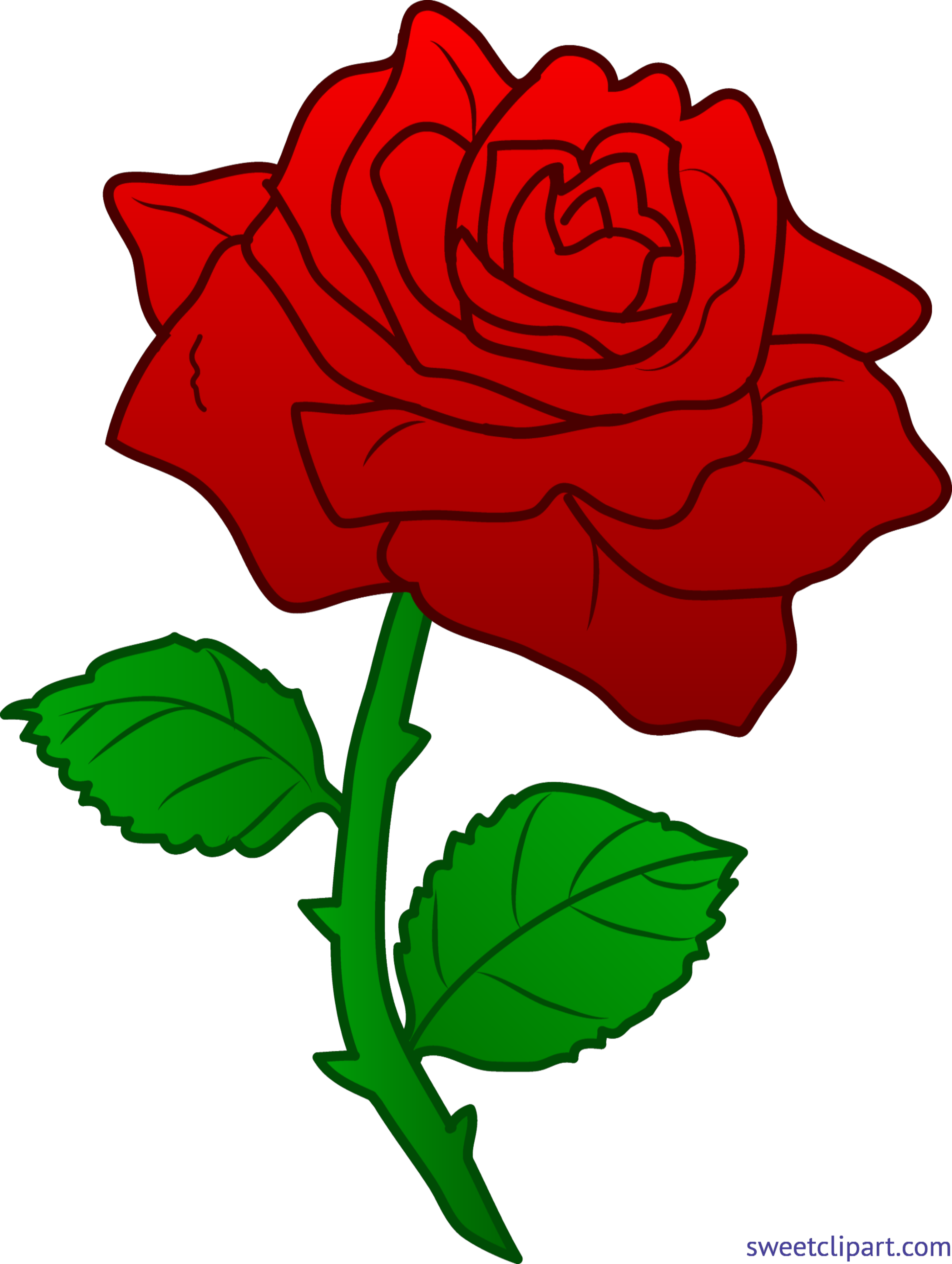Clipart roses easy. Rose red clip art
