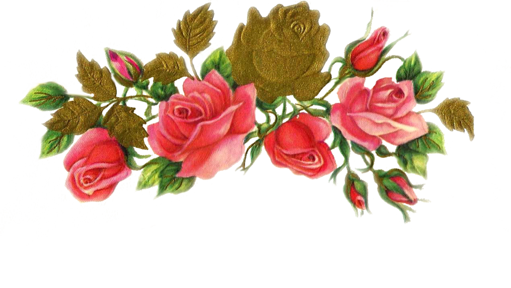 Jinifur n by on. Clipart rose rose gold