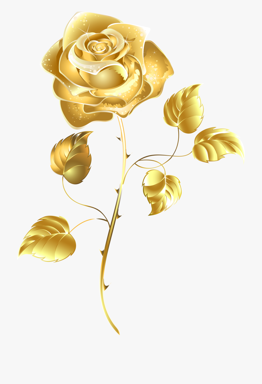 Crown transparent background flower. Clipart rose rose gold