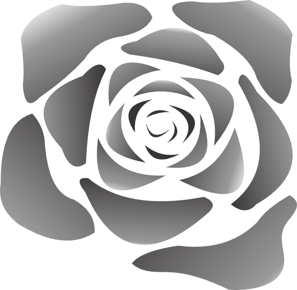 Clip art at clker. Rose clipart black and white