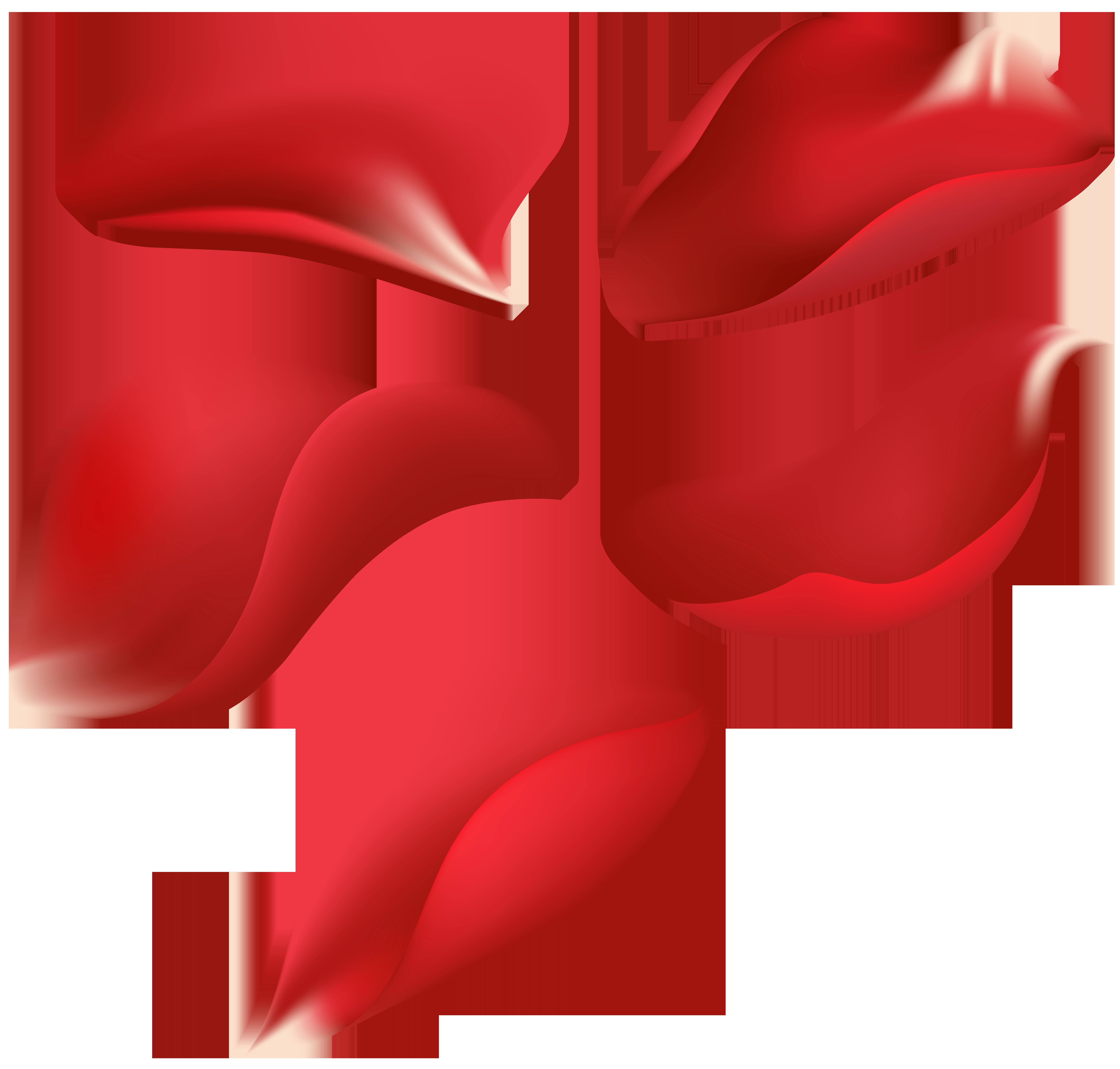 Clipart rose rose petal. Red petals transparent clip