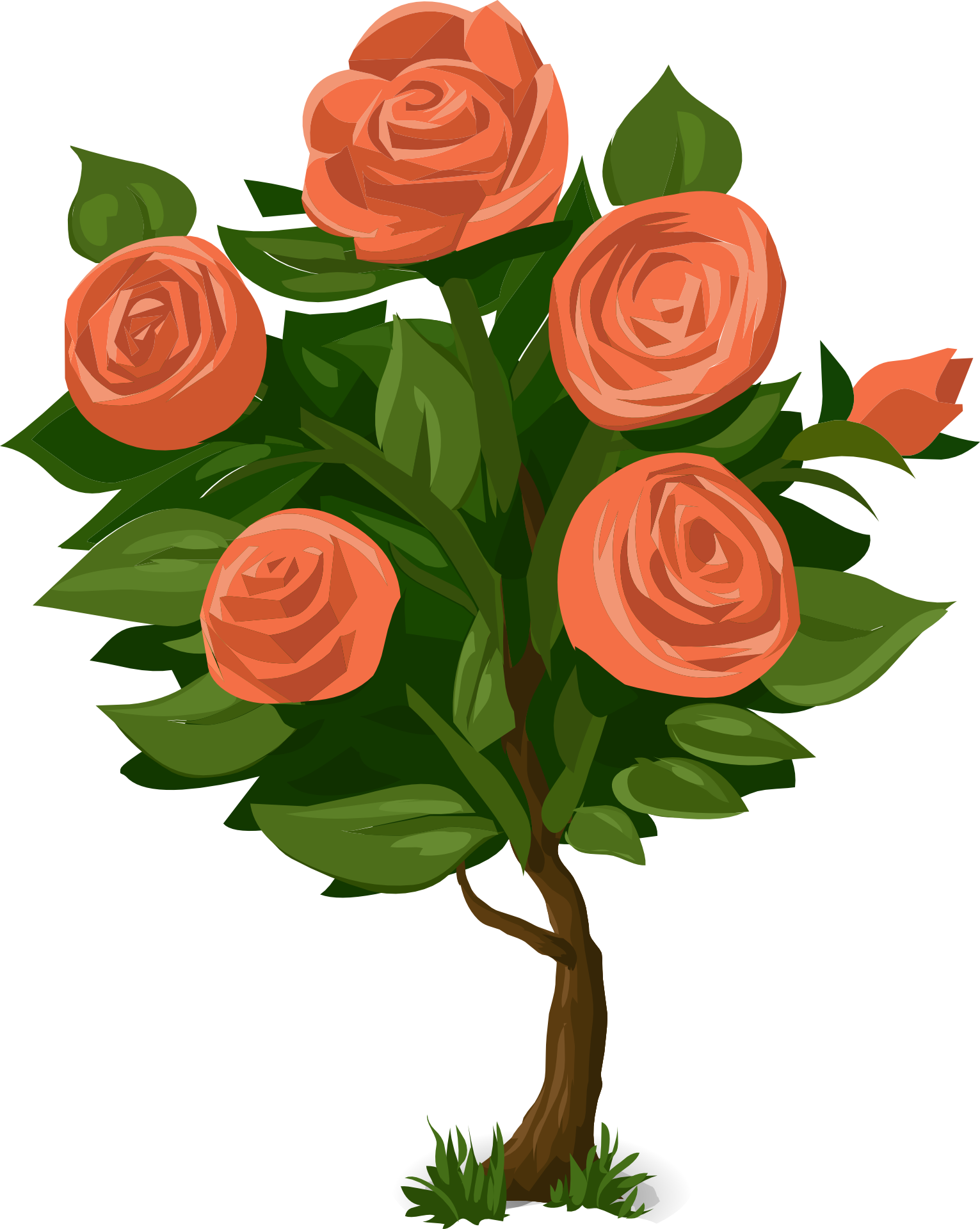 Clipart rose shrub. Flower clip art green