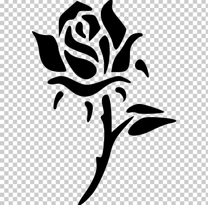 Png artwork black and. Clipart rose silhouette