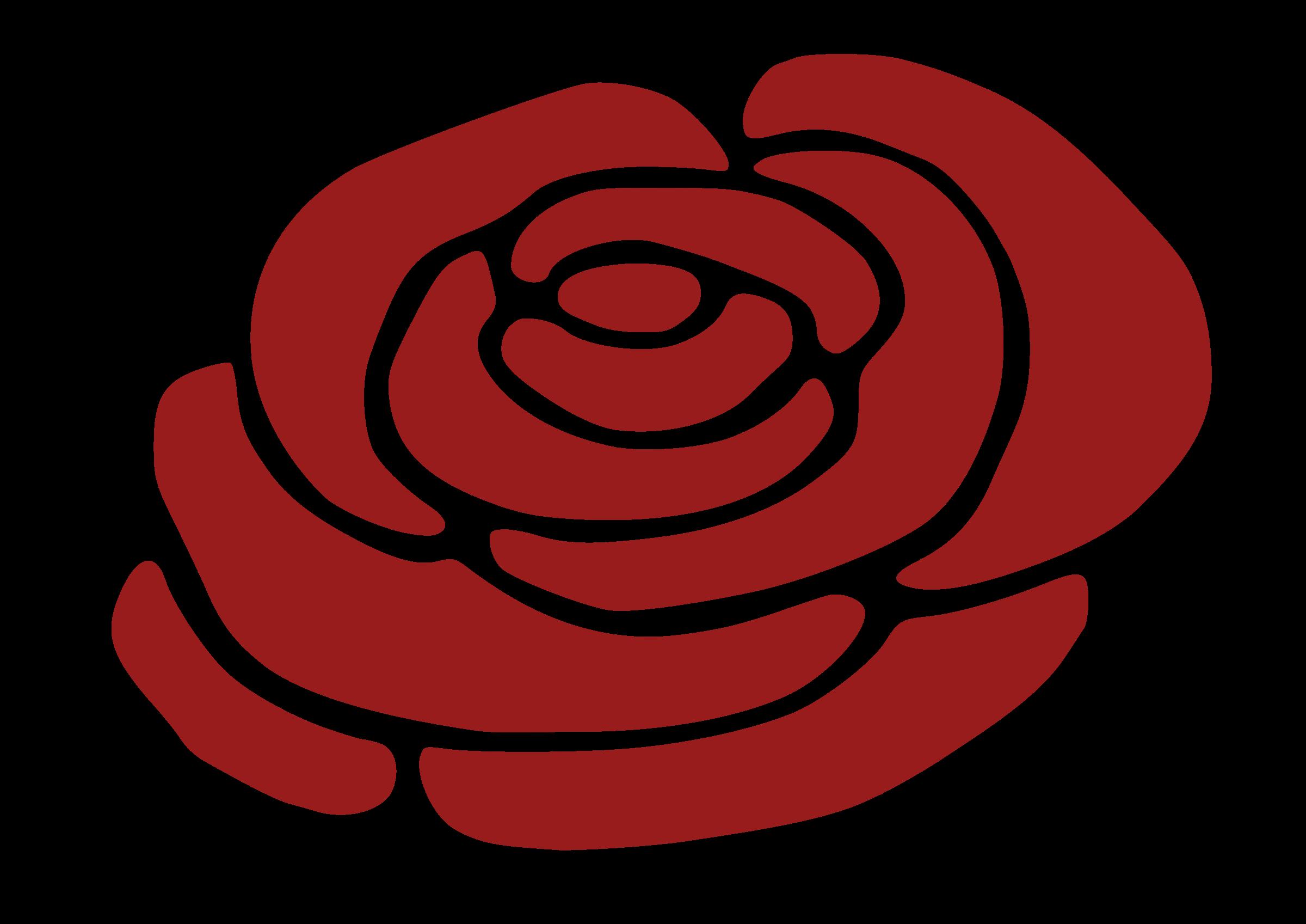 Ireland vector big image. Clipart rose silhouette