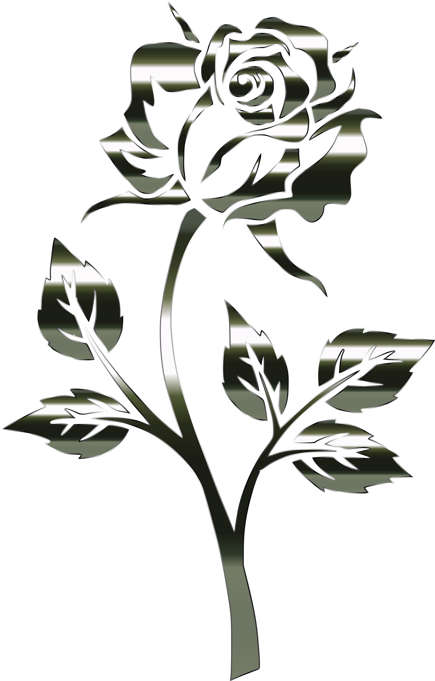 Clipart rose silhouette. Polished obsidian no background