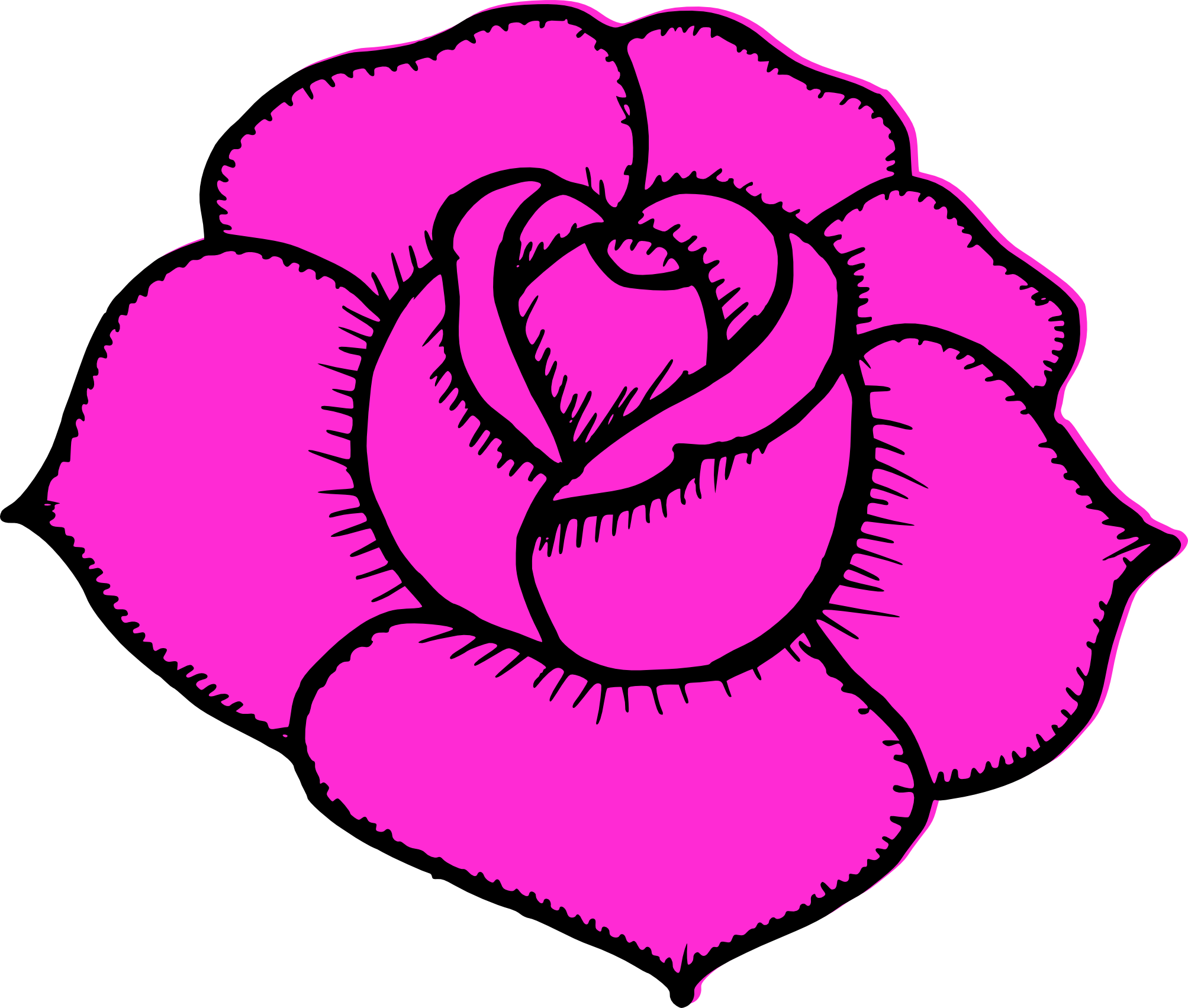 Simple drawing at getdrawings. Rose clipart easy