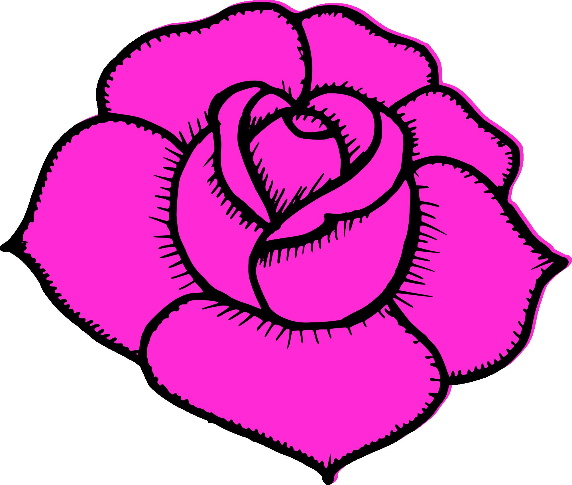 Clipart rose simple. Drawing at getdrawings com