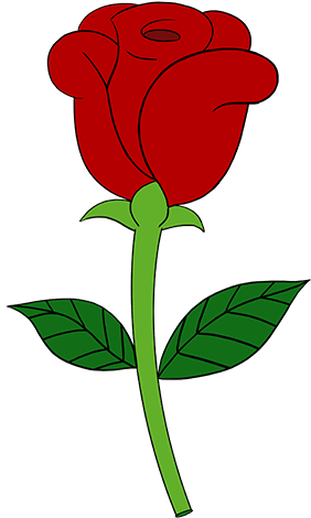 Clipart rose simple. Related clip art easy