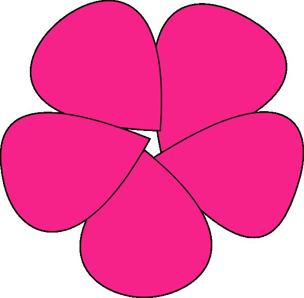 Clipart rose simple. Flower pink clip art
