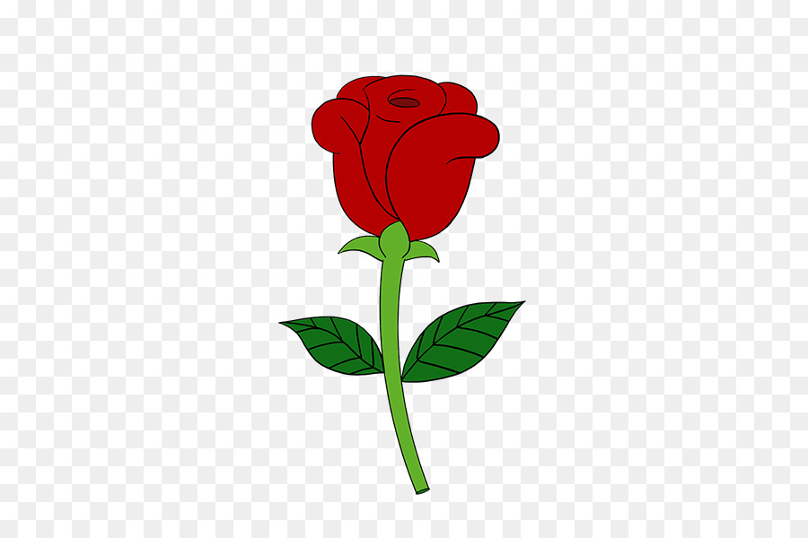 Drawing of family rose. Clipart roses simple