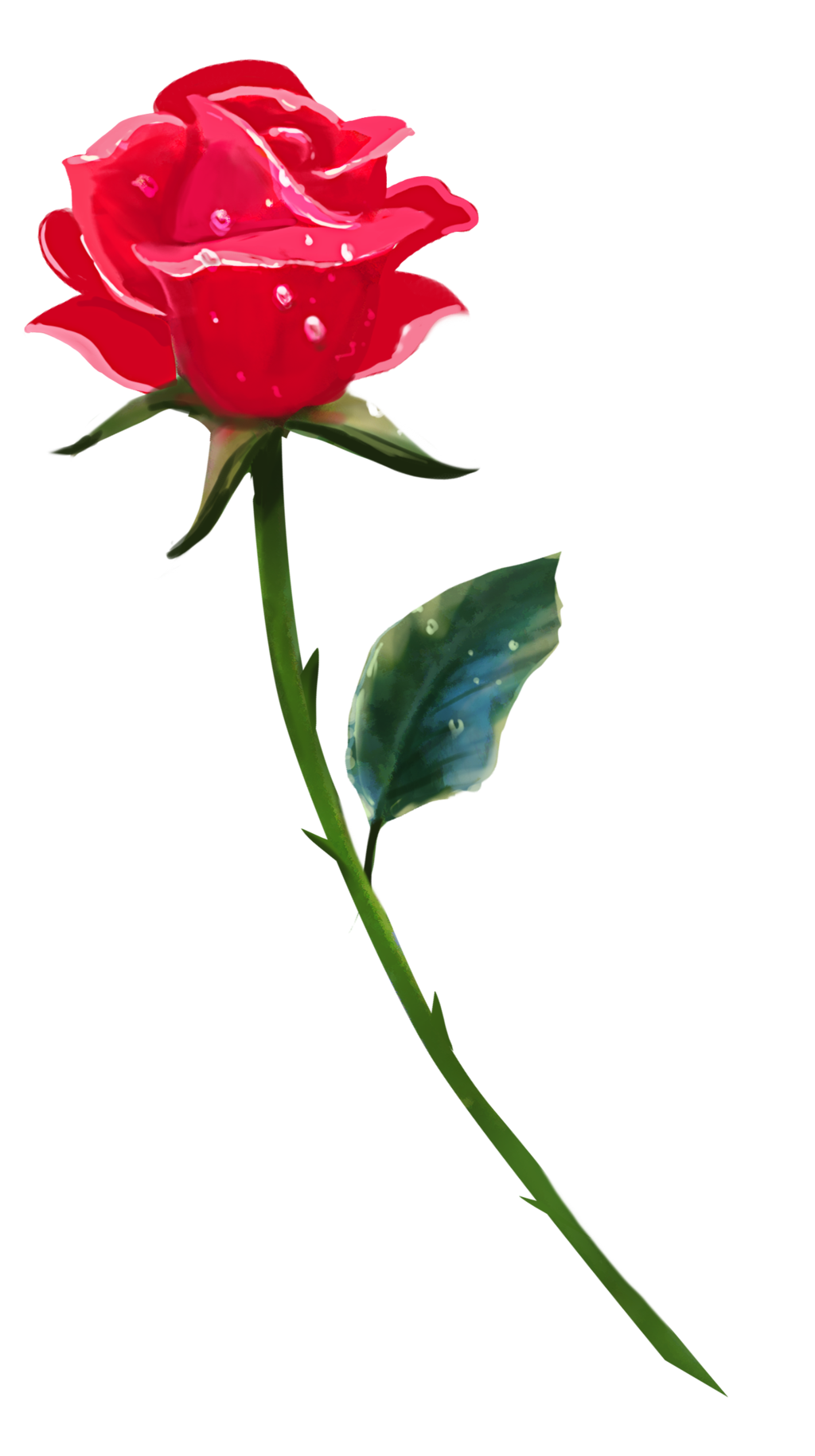 Clipart rose single. A by brookegillette on
