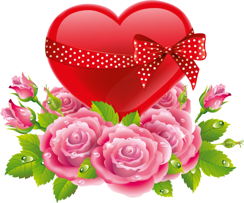 Clipart roses snake. Red heart polka dot