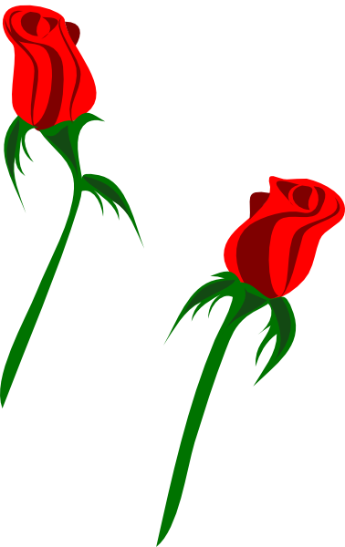 Free red download clip. Clipart roses stick