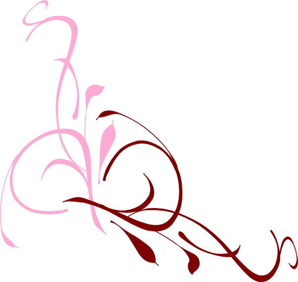 Clipart rose swirl. Cliparts design pink zone