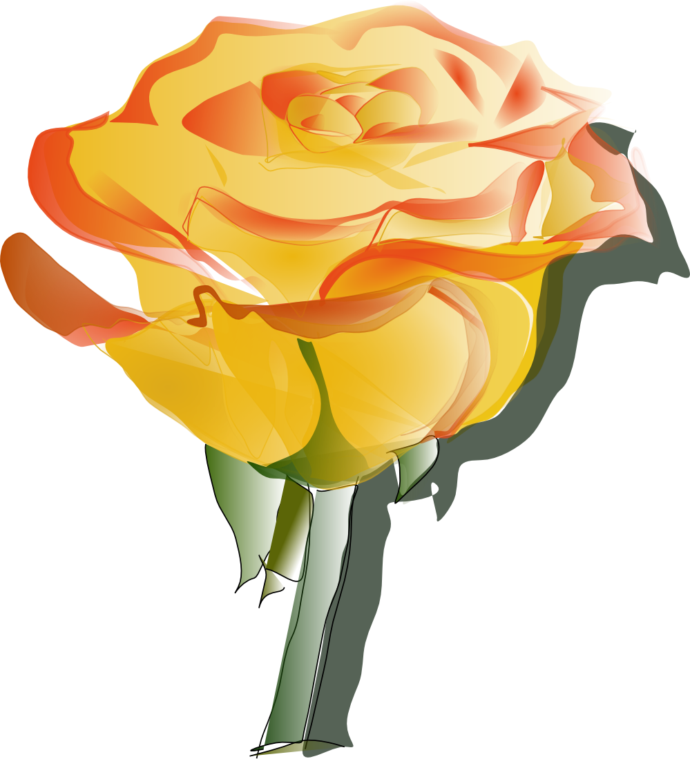 Clipart rose swirl. Free fall flowers download