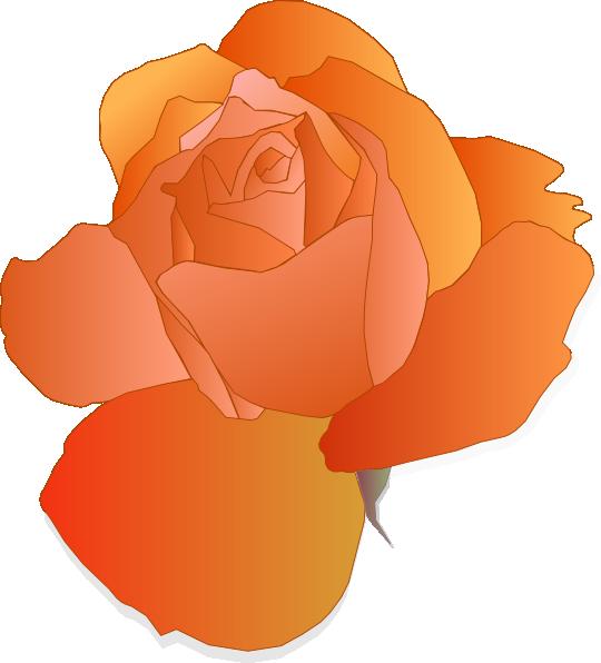 Orange clip art at. Clipart rose tea
