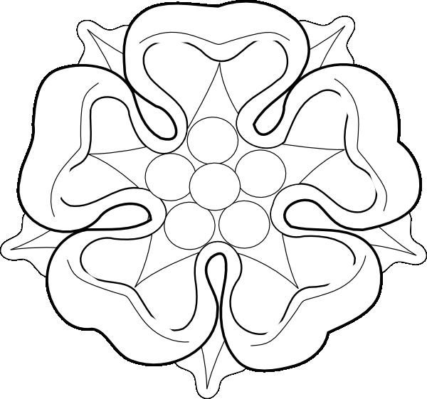 B w tudor clip. Clipart rose template