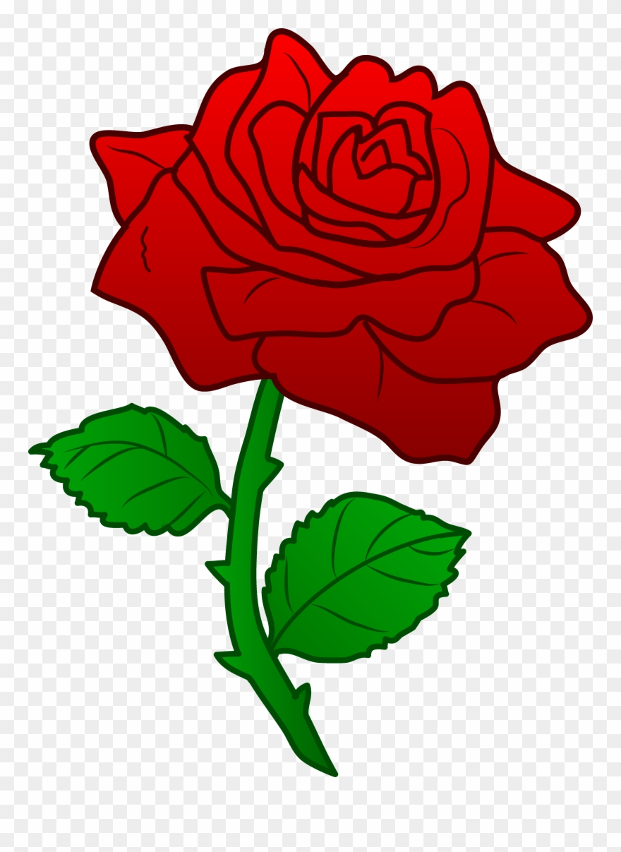 Clip art roses with. Clipart rose thorn
