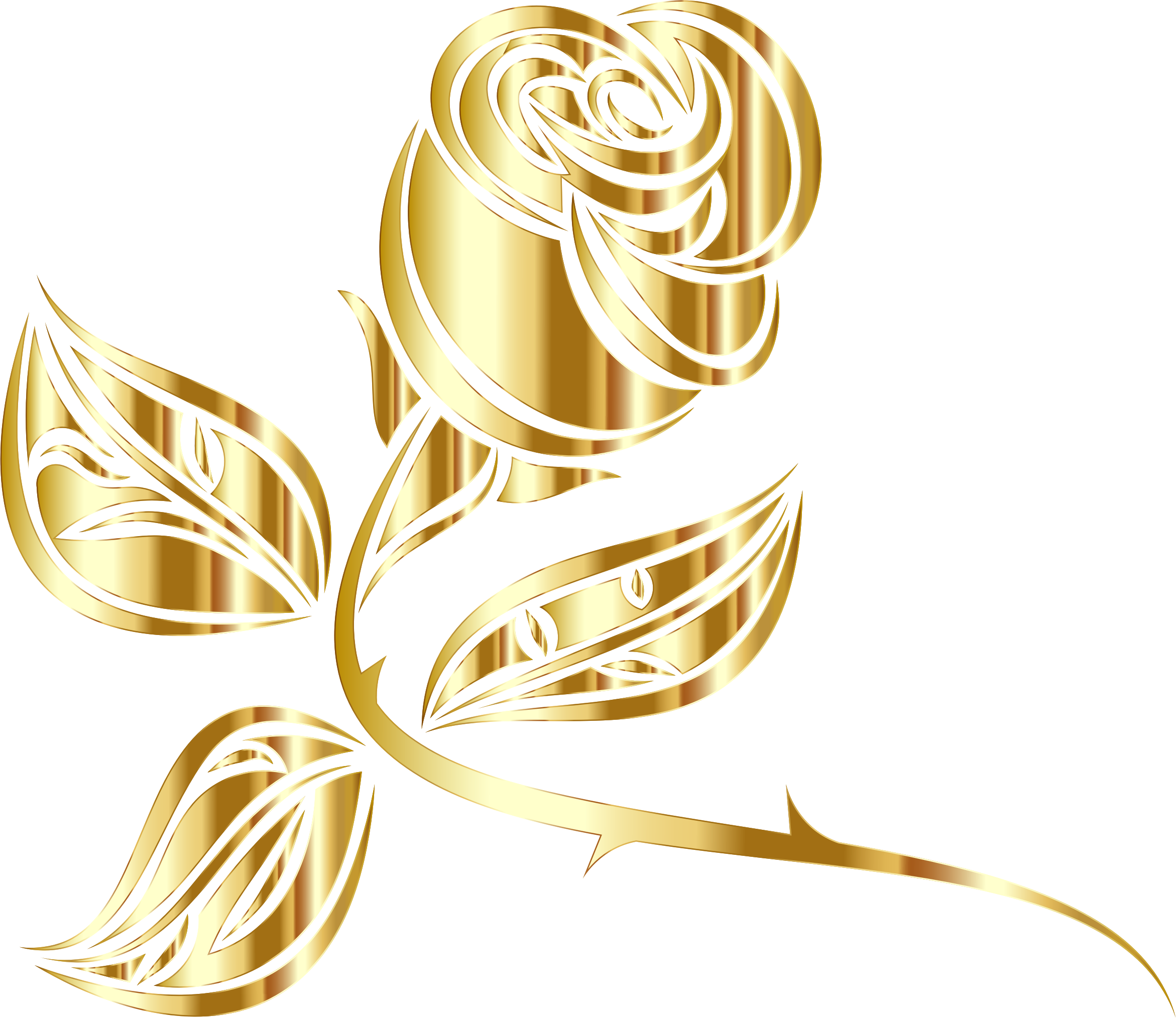 Clipart rose thorn. Stylized extended minus background