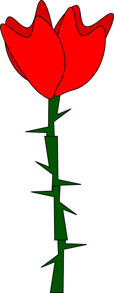 Free cliparts download clip. Clipart rose thorn