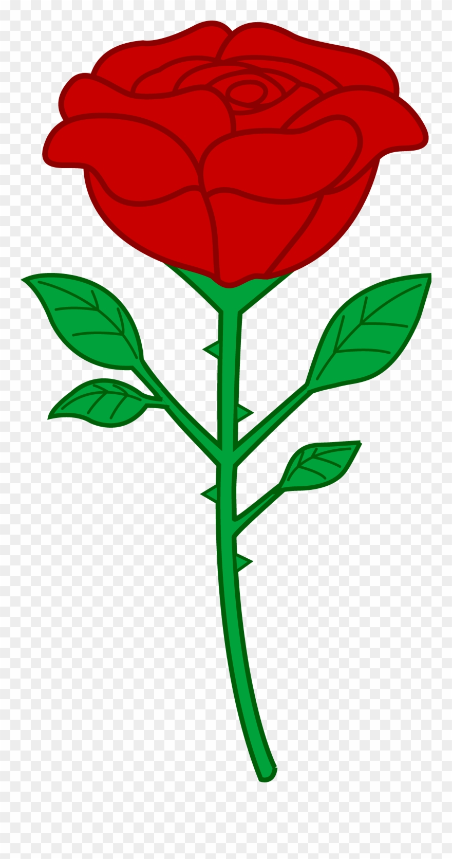 Clipart rose thorn. Clip art roses with