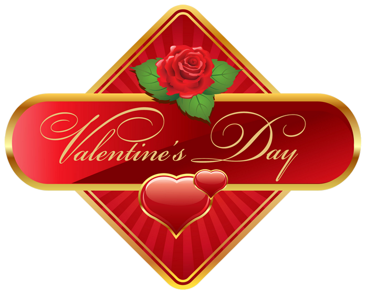 Clipart roses maroon. Valentines day label with
