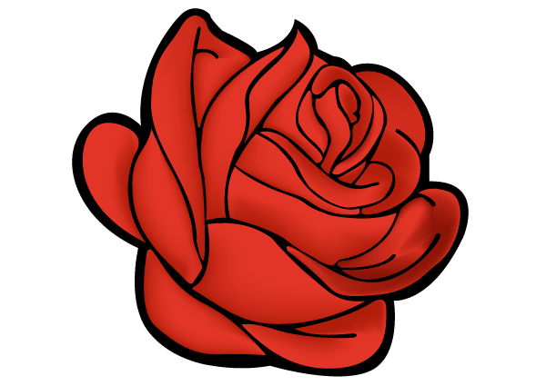 Clipart rose vector. Red art free valentine